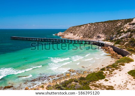 Stenhouse Bay Innes National Park Yorke Peninsula South Australia - stock photo