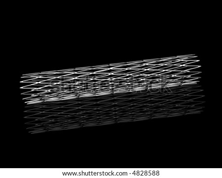Stent with Reflection - stock photo