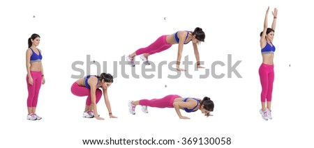 Step by step instructions: Burpees