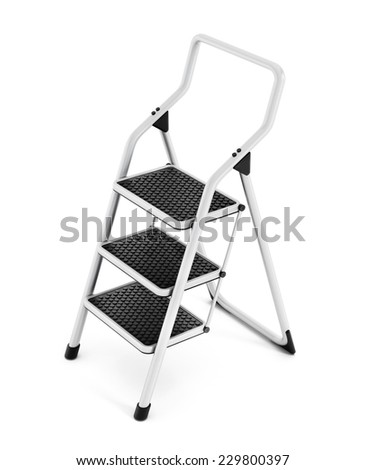 Step ladder isolated on white background.