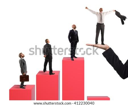 Step of success - stock photo