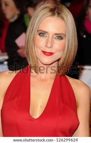 Stephanie Waring arriving for the National Television Awards 2013, at the O2 Arena, London. 23/01/2013 Picture by: Steve Vas