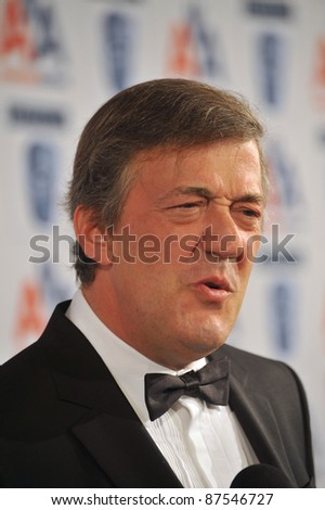 Stephen Fry at the 18th Annual BAFTA/LA Britannia Awards at the Hyatt Century Plaza Hotel, Century City. November 5, 2009  Los Angeles, CA Picture: Paul Smith / Featureflash