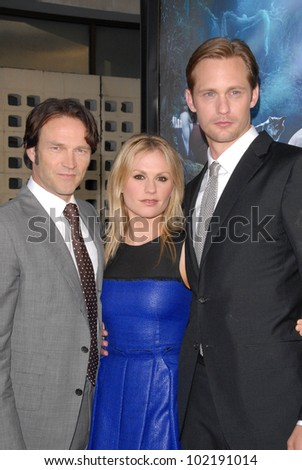 "Stephen Moyer, Anna Paquin, Alexander Skarsgard  at HBO's ""True Blood"" Season 3 Premiere, Cinerama Dome, Hollywood, CA. 06-08-10"