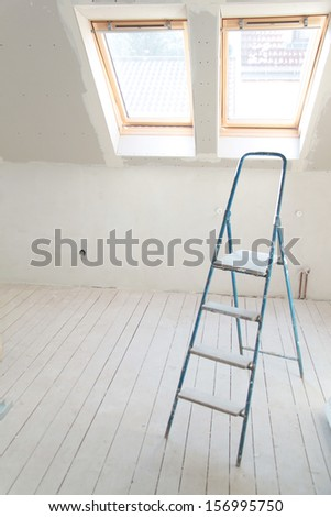 stepladder - stock photo