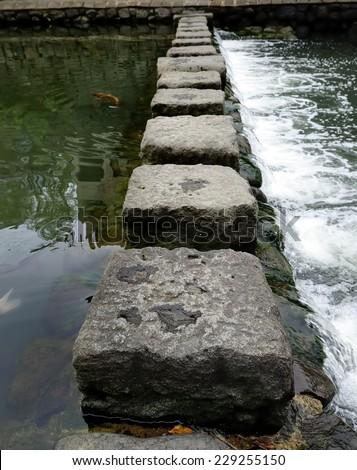 Stepping Stones - stock photo