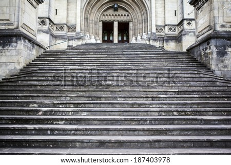 steps - stock photo