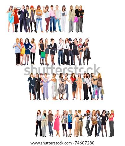 Steps Crowd Diversity - stock photo