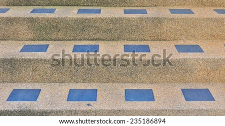 Steps of an stone stairway. Close-up - stock photo