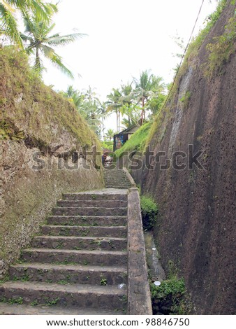 Steps of Gunung Kawi Temple Complex - Bali, Indonesia