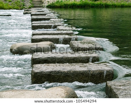 Steps to the Goal - stock photo