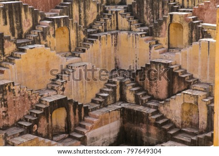 Stepwell, called baori, located in the city of Jaipur, India. It is considered a religious building as well, giving a strong sense of community.