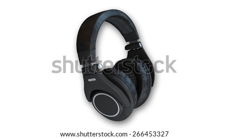 Stereo headphones isolated on white background