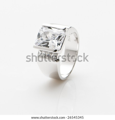Sterling Silver Ring - stock photo