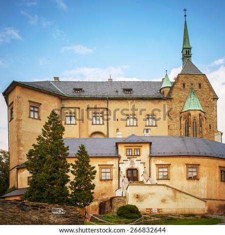 Sternberk Castle in Olomouc Region of Czech Republic. - stock photo