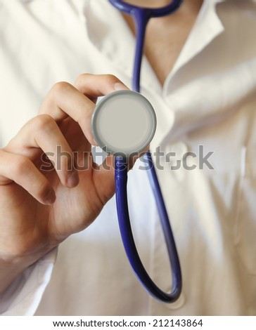stethoscope - stock photo
