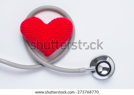 stethoscope and heart shape, cardiovascular diseases and prevention concept. Health insurance. - stock photo