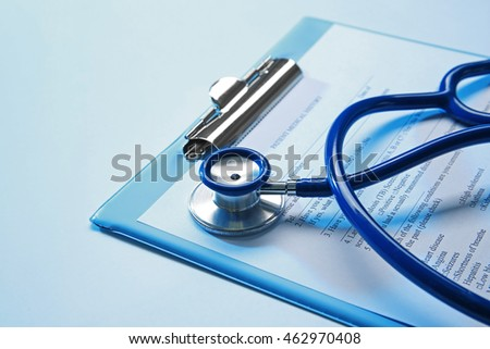 Stethoscope and patient medical history