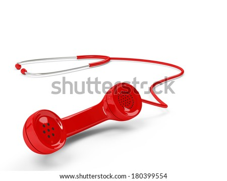 Stethoscope and phone