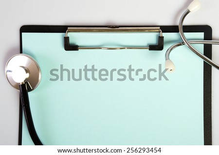 stethoscope badge folder