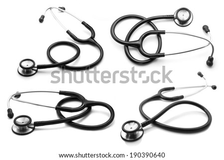 Stethoscope Collection - stock photo