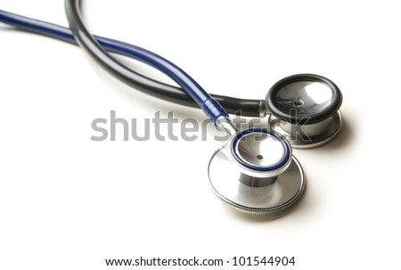 Stethoscope isolated on white