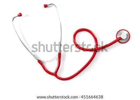 Stethoscope, isolated on white