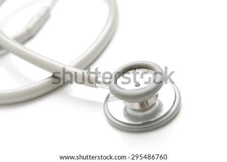 Stethoscope isolated on white background - stock photo