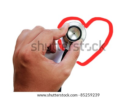 stethoscope isolated on white background