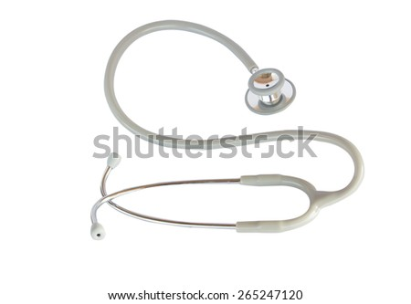 Stethoscope isolated on white background. with clipping path. - stock photo