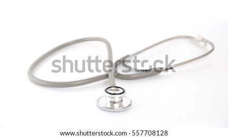 STETHOSCOPE, Medical equipment for heart and lung checking.
