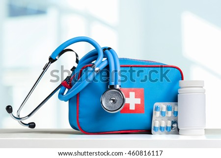 stethoscope on a table