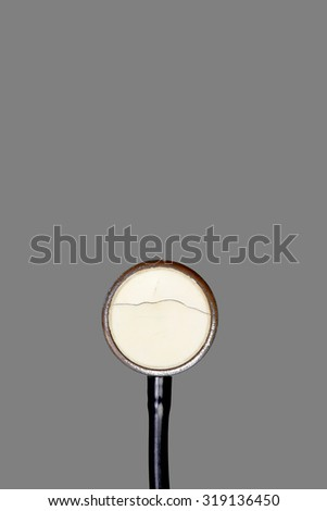 stethoscope on grey background