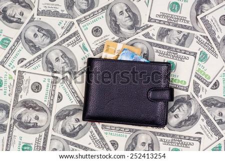 Stethoscope on US dollar bills. Crisis concept. - stock photo