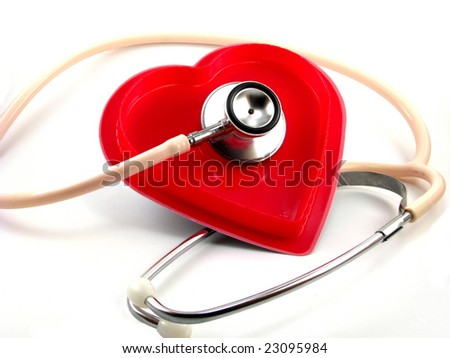 Stethoscope with Heart - stock photo