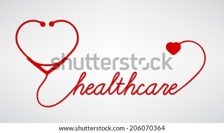 stethoscope with heart, medical symbol