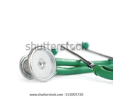 stetoscope isolated on white background - stock photo