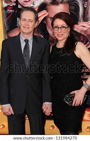"Steve Buscemi and Jo Andres at the World Premiere of ""The Incredible Burt Wonderstone"" Chinese Theater, Hollywood, CA 03-11-13"