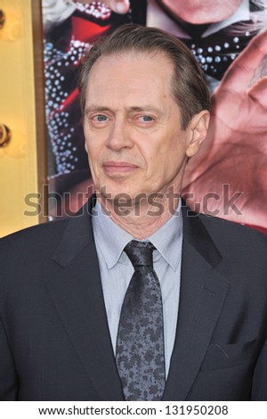 "Steve Buscemi at the world premiere of his movie ""The Incredible Burt Wonderstone"" at the Chinese Theatre, Hollywood. March 11, 2013  Los Angeles, CA Picture: Paul Smith - stock photo"