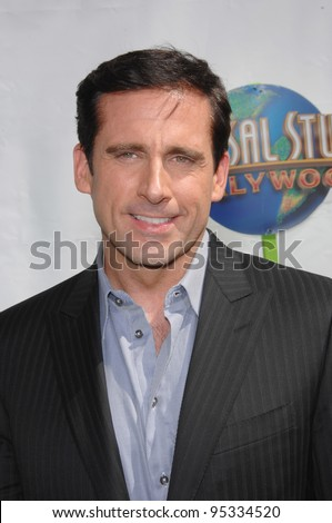 "Steve Carell at the world premiere of ""Evan Almighty"" at the Gibson Amphitheatre, Universal Studios, Hollywood. June 10, 2007  Los Angeles, CA Picture: Paul Smith / Featureflash - stock photo"