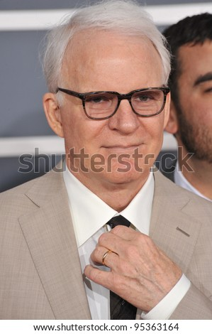 Steve Martin at the 54th Annual Grammy Awards at the Staples Centre, Los Angeles. February 12, 2012  Los Angeles, CA Picture: Paul Smith / Featureflash - stock photo