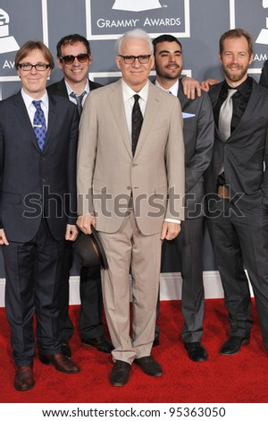 Steve Martin & The Steep Canyon Raiders at the 54th Annual Grammy Awards at the Staples Centre, Los Angeles. February 12, 2012  Los Angeles, CA Picture: Paul Smith / Featureflash - stock photo