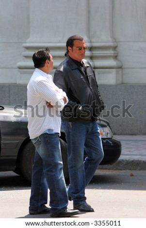 Steven Seagal on the set of 'Marker' (May 2007)