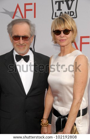 Steven Spielberg and Kate Capshaw at the The AFI Life Achievement Award Honoring Mike Nichols presented by TV Land, Sony Pictures Studios, Culver City, CA. 06-10-10
