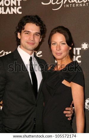 Steven Strait and Lynn Collins at the Montblanc 'Signature for Good' Charity Gala. Paramount Studios, Los Angeles, CA. 02-20-09