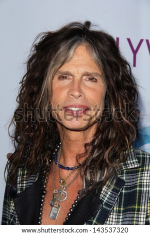 Steven Tyler at the Hollywood Bowl Hall of Fame Opening Night, Hollywood Bowl, Hollywood, CA 06-22-13 - stock photo