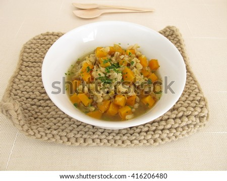 Stew with barley and lentils