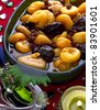 Stewed dried fruit salad - stock photo