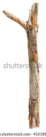Stick isolated on white background