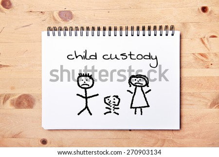stick man background - drawing block - child custody - stock photo